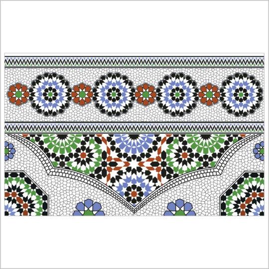 Marrakech-vert-bordure-25x40-revetement-mural-essid-ceramique-img-01