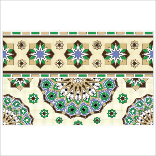 Royal-vert-bordure-25x40-revetement-mural-essid-ceramique-img-01